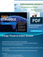 Energy Security- An Indian Perspective