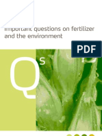 3734 Important Questions on Fertilizer and the Environment