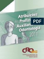 Manual Atribuições dos profissionais auxiliares
