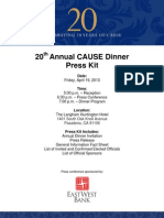20th Annual CAUSE Dinner Press Kit