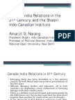 Canada-India Relations 21st