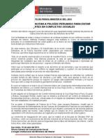 FRANCESES CAPACITAN A POLICÍAS PERUANOS PARA EVITAR MUERTES EN CONFLICTOS SOCIALES
