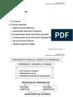 Tema El Proceso de Aprendizaje