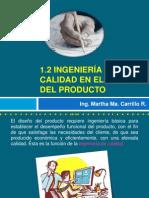 1.2 Ingeniería de calidad en el diseño del producto(2)