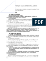 NOÇÕES DE INTERPRETAÇÃO DA LEI E HERMENÊUTICA JURÍDICA