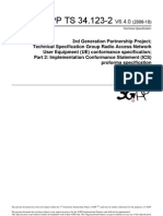 3GPP TS 34.123-2 UE Conformance Specification