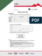 U-Line - REBATE CLAIM FORM