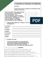 """Arbeitsblatt zum Thema """"Superlativ von Partizipien und Adjektiven"""""""