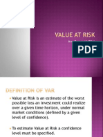 Value at Risk Final Ppt
