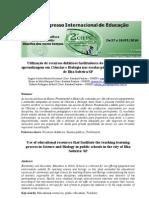 recursos didáticos ciencias e biologia nas escolas públicas