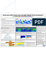 Integrated GIS-based Low and High fidelity flood simulations
