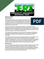 CERT Training Info