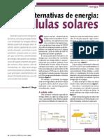 Fontes alternativas de energia. As células solares