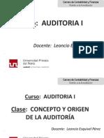 CLASE-Origen y Concepto de Auditoria