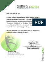 Constancia de Asistencia Ana Raquel Amaro