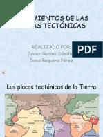 MOVIMIENTOS DE LAS PLACAS TECTÓNICAS