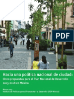 Hacia una política nacional de ciudad