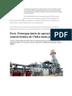 La construcción de una planta termoeléctrica en la playa Salinas en el distrito de Chilca(ADICIONAL)