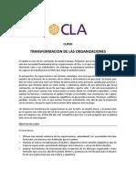 Programa Transformación de las Organizaciones