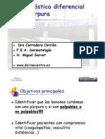Diagnóstico diferencial de púrpura en urgencias