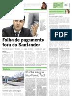 TCE DECLARA ILEGAL FOLHA DE PAGAMENTO NO SANTANDER ATÉ NOVA LICITAÇÃO