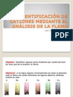 IDENTIFICACIÓN DE CATIONES MEDIANTE EL ANÁLISIS DE LA flama