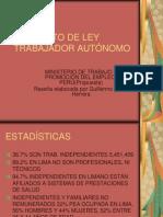 PROYECTO DE LEY TRABAJADOR AUTÓNOMO del mintra