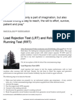 Load Rejection Test (LRT) and Reliability Running Test (RRT) _ My Little World