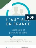 Autisme France Enquete Doctissimo Fondation Fondamental