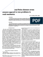 Three-Dimensional Finite Element Stress Analysis Applied to Two Problems in Rock Mechanics