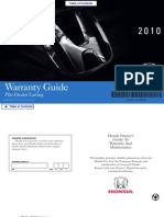 2010 Honda Warrenty Guide