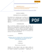 NORMAS PARA EL CONTROL DE MATERIALES PELIGROSOS Y EL MANEJO DE LOS DESECHOS PELIGROSOS Decreto 2635.pdf
