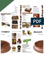Dessert Recipe Brochure
