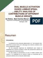 Activación Muscular y Estabilidad Lumbar