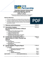 Cities Counties Schools Partnership  - April 19, 2013 Board Meeting Agenda (pdf)
