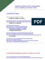 ACTIVIDADES+DE+AMPLIACIÓN+Y+REFUERZO+LENGUA+CASTELLANA+PARA+1º+ESO