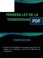 Ley Cero y Primera Ley de La Termodinamica