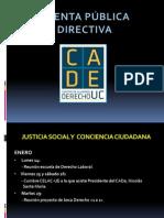 Cuenta Publica Directiva Marzo