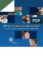 De La Emergencia a La Equidad Ppss0509