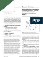 Recomendaciones de Reanimacion Cardiopulmonar Basica Avanzada y Neonatal Reanimacion Cardiopulmonar Avanzada en Pediatria III