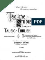 Tausig Studies for Piano Technique