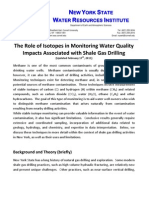TThe Role of Isotopes in Monitoring Water Quality Impacts Associated with Shale Gas Drilling