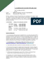 Convocatoria IV Copa Academia 2013