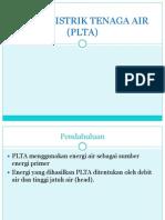 Pusat Listrik Tenaga Air (Plta)