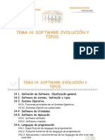 Tema 14. Software. Evolucion y Tipos