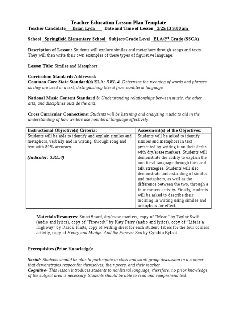 Common Metaphor Examples Choice Image Example Cover Letter For Resume