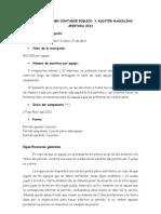 Campeonato Baby Contador Publico y Auditor Apertura 2013