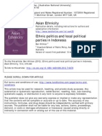 Ethnic Politics and Local Political Parties in Indonesia
