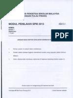 Spm Trial 2012 Chemistry Qa Penang
