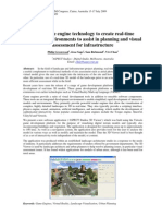 Using Game Engine Technology to Create Real-timeinteractive environments to assist in planning and visual assessment for infrastructure